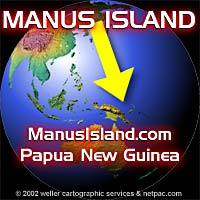 Manus Island, Manus Province, Papua New Guinea location near northern Australia and south east of SE Asia